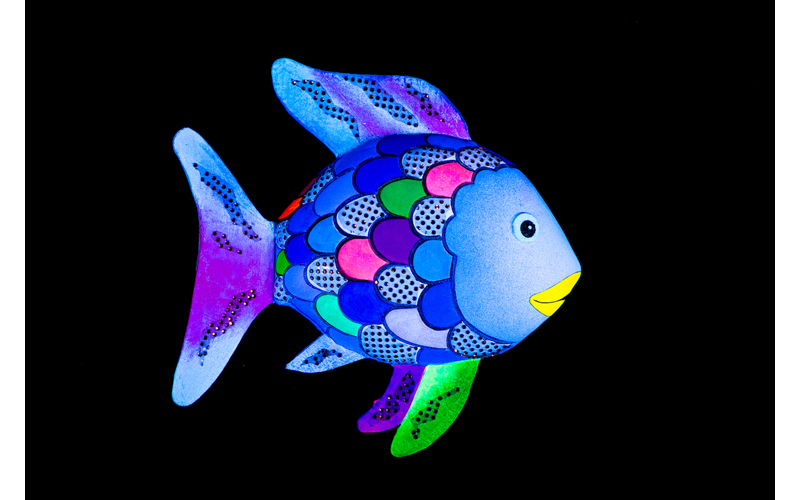 a recreation of the rainbow fish